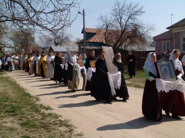 Крестный ход в селе Давыдово