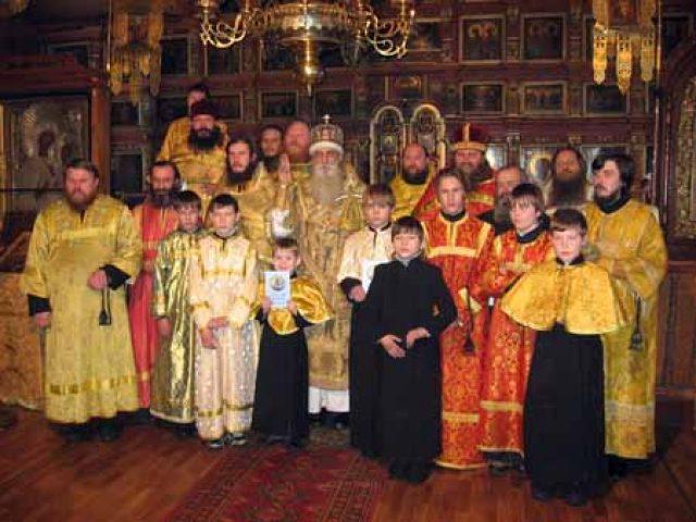 Архиерейское богослужение в селе Чернуха