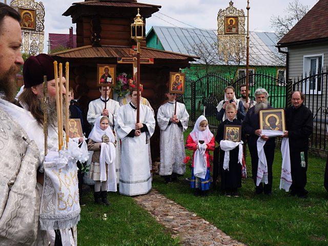 Сугубым крестным ходом прославили Воскресшего Христа в с. Давыдово