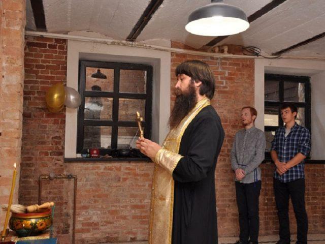Освящение благотворительной столовой в Ростове-на-Дону