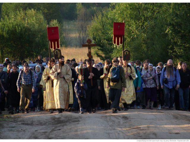 Крестный ход на реку Великую