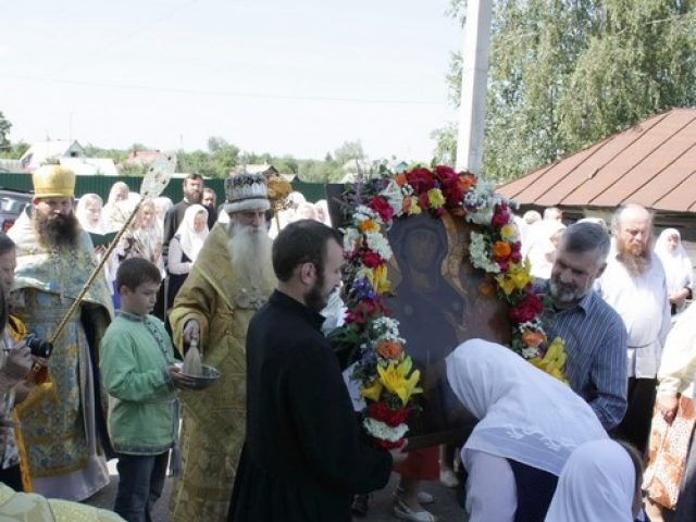 Праздник Тихвинской иконы Пресвятой Богородицы в с. Устьяново
