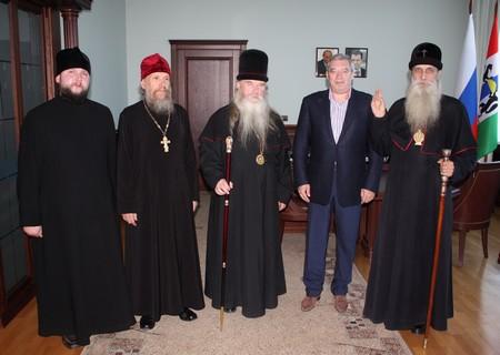 Встреча с губернатором Новосибирской области
