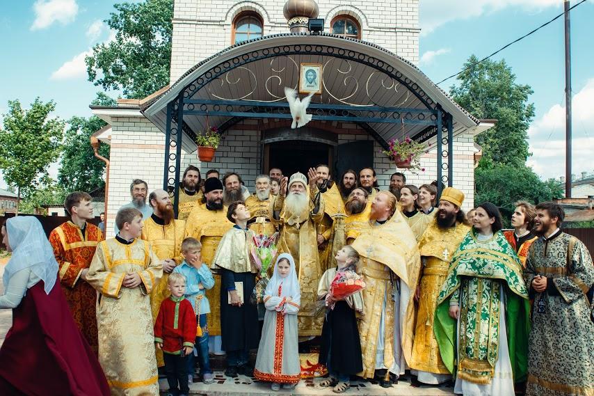 Освящение храма в г. Меленки. Юбилей протоиерея Иоанна Думнова