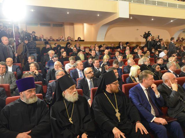 Митрополит Корнилий посетил юбилей Отдела внешних церковных связей РПЦ МП