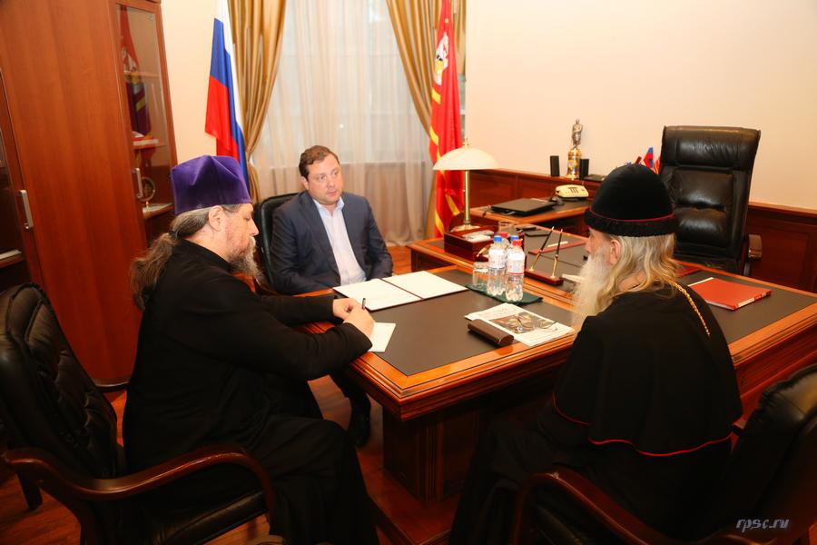 Митрополит Корнилий встретился с губернатором Смоленской области