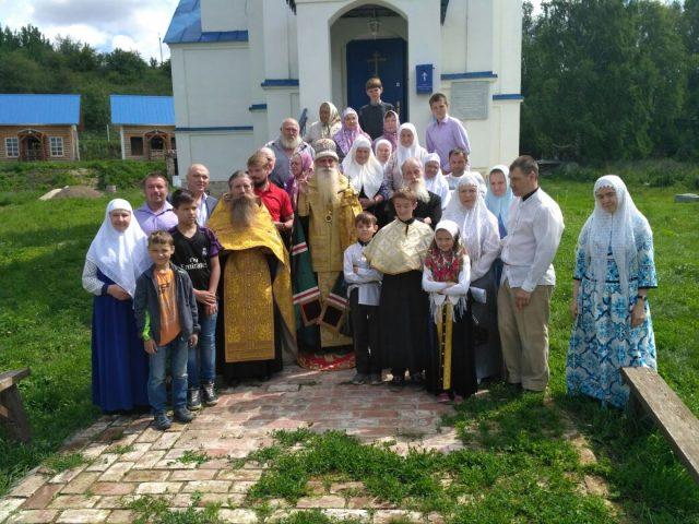Молебен с архипастырем в селе Соболевском