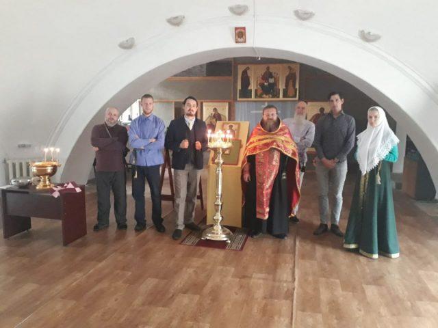 Водоосвящение в возрожденном Никольском храме
