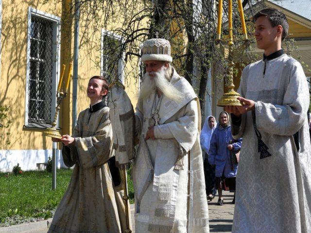 Пасхальные службы на Рогожском