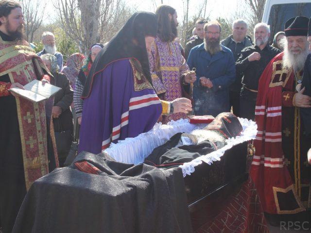 Старообрядческое погребение священноинока Вениамина