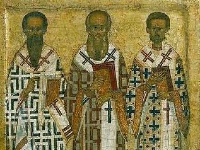 Память трех святителей Василия Вeликагo, Григория Богocлoва и Иоанна Златоуcтaгo
