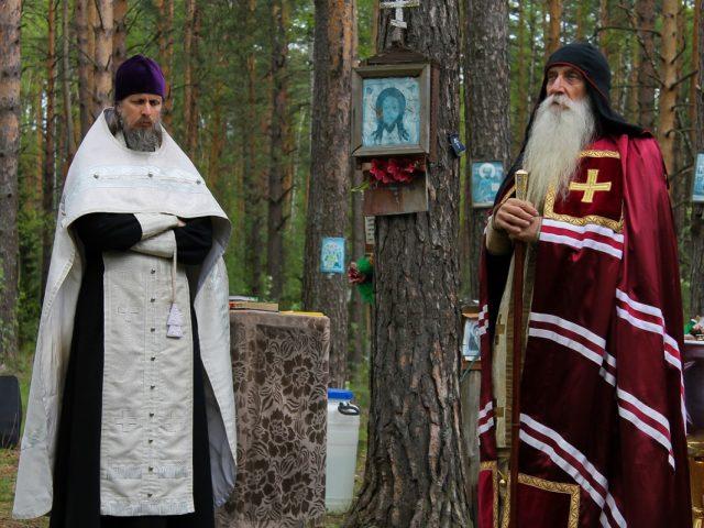Водоосвящение в Беливских скитах
